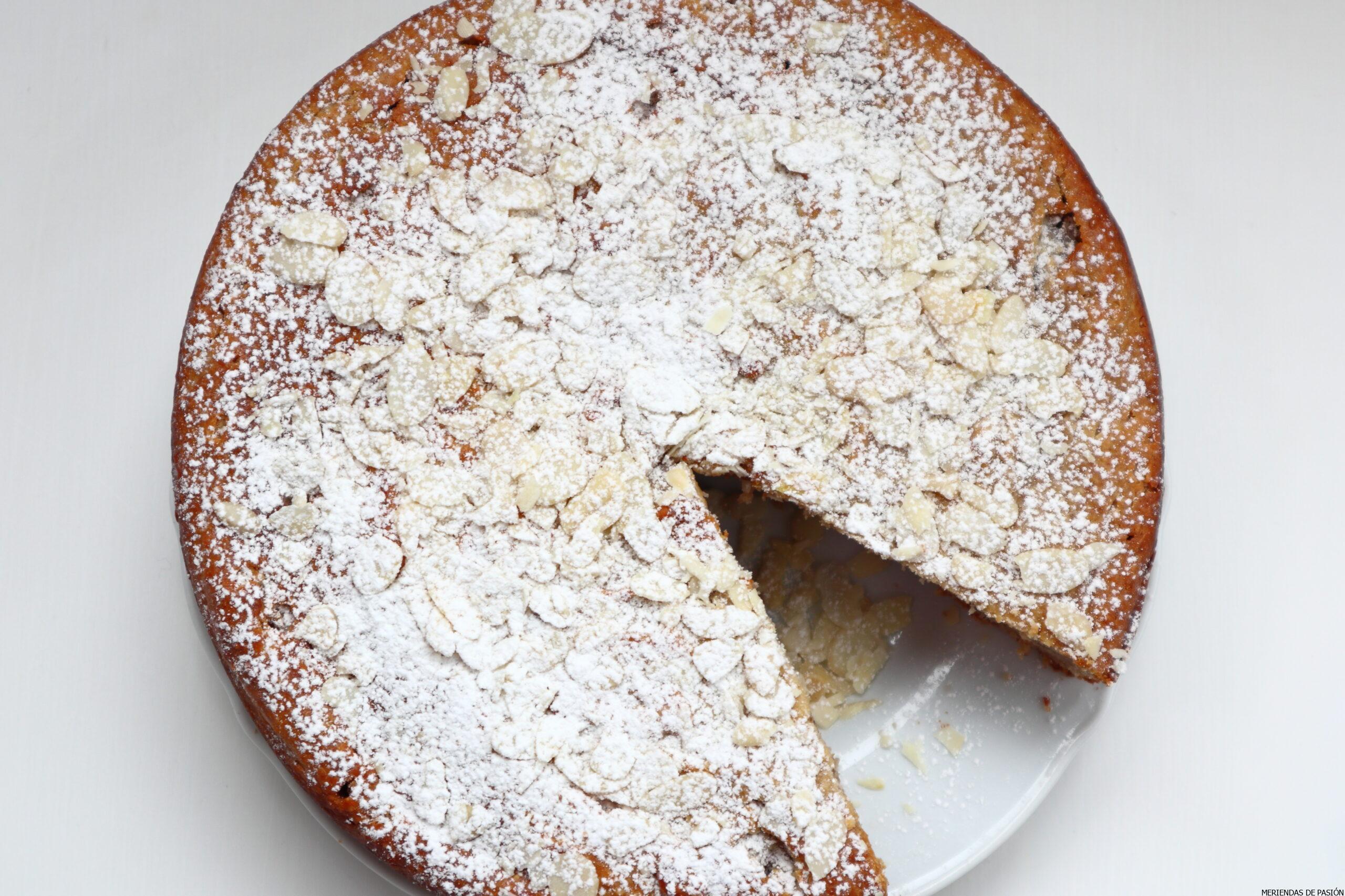 Almond nuts ricotta cake