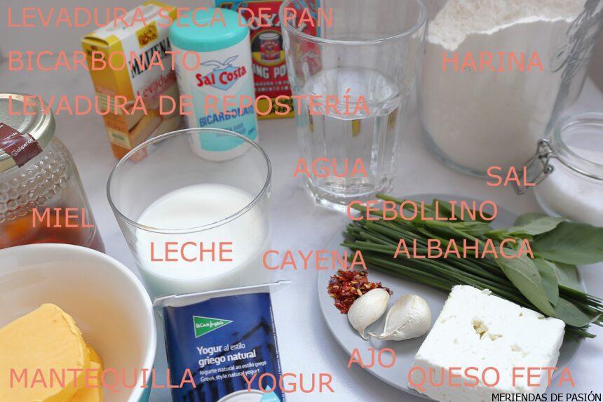 Ingredientes pan naan