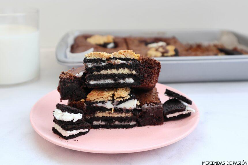 Peanut butter and oreo brownie