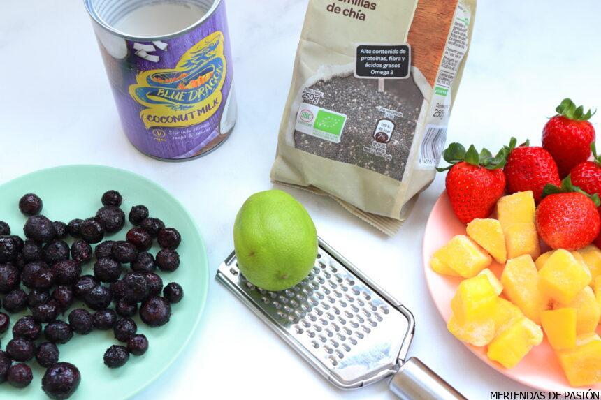 Ingredientes chia pudding