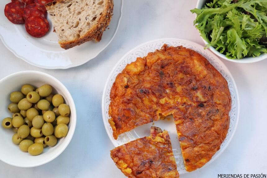 Spanish tortilla with chorizo